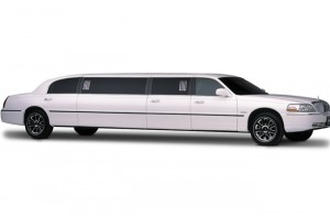 White Lincoln Stretch Limousine